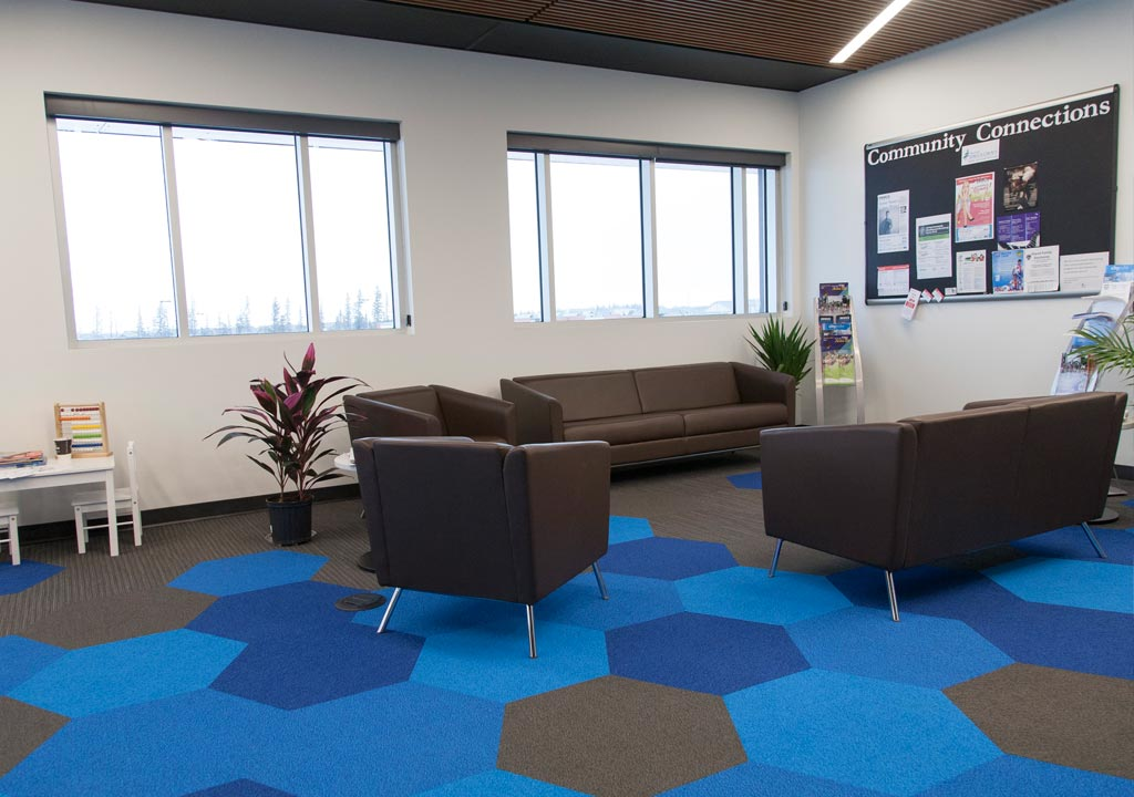 Border Paving Athletic Centre - Rec Hub waiting room