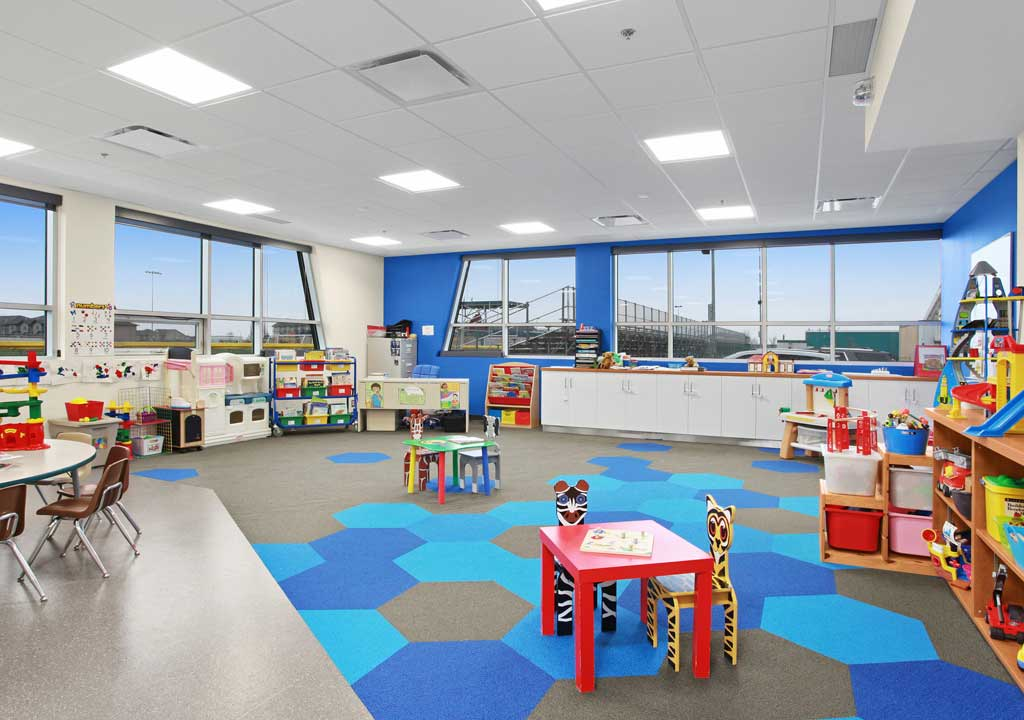 Border Paving Athletic Centre - Aerials Playschool in Qualico Communities KidZone