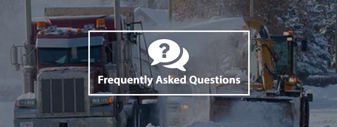 FAQs - Residential Street Snow Removal